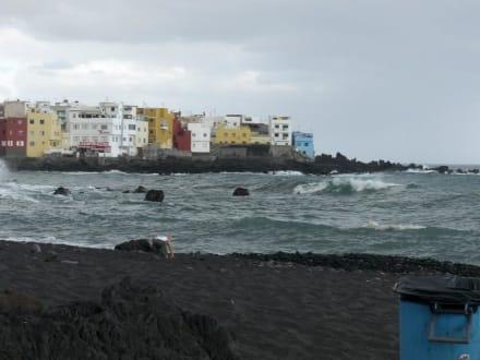 Blick vom Strand - Playa Jardín