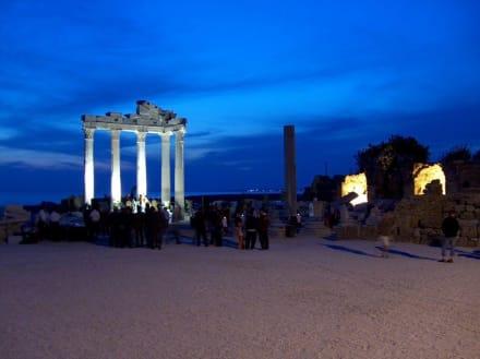 Apollo Tempel Side am Abend - Apollon Tempel