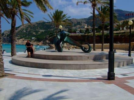 Beginn der Strandpromenade - Strandpromenade Albir