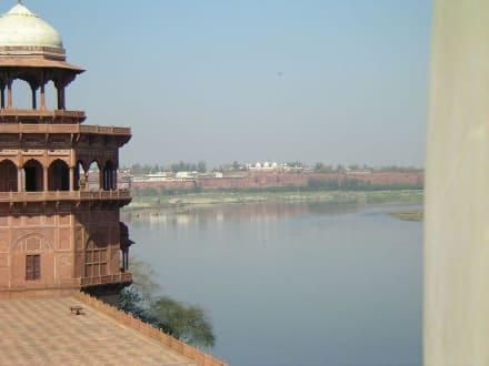 Das Rote Fort vom Taj Mahal aus gesehen - Rotes Fort