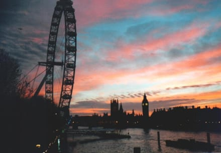 London Eye im Abendhimmel - London Eye