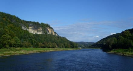 Fahrt Richtung Bastei - Bastei