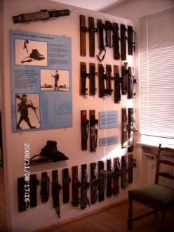 erste Skibindungen - Entwicklung - Kleinmuseum Klösterle