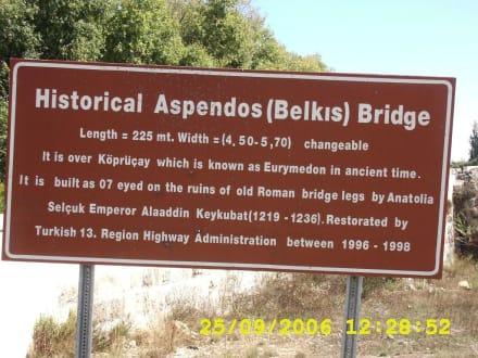 hinweisschild - Theater von Aspendos