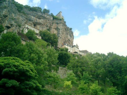 Blick auf Rocamadour - Quercy-Trail