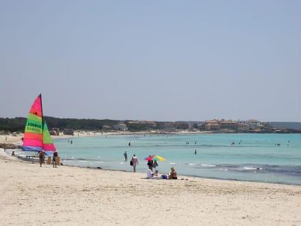 Bucht von Sa Rapita - Platja Es Trenc