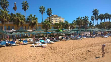 Blick auf das Antik - Butik Hotel - Strand Avsallar