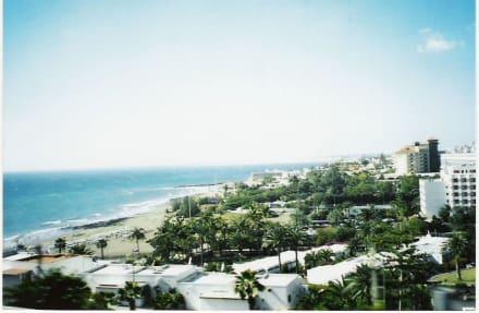 Ausblick aus Reisebus - Strand Maspalomas