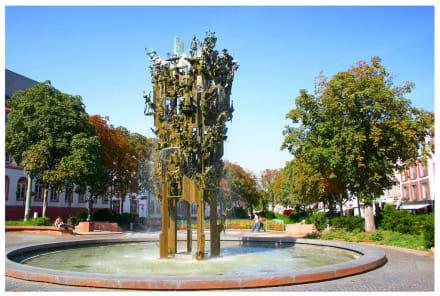 Der Fastnachtsbrunnen am Schillerplatz - Schillerplatz