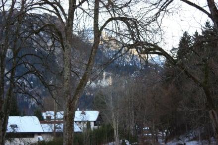 Blick auf Neuschwanstein - Hotel Wildpark (geschlossen)