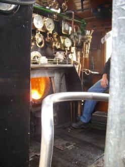 Die Maschine der Dampflokomotive - Outeniqua Choo Tjoe Transport Museum