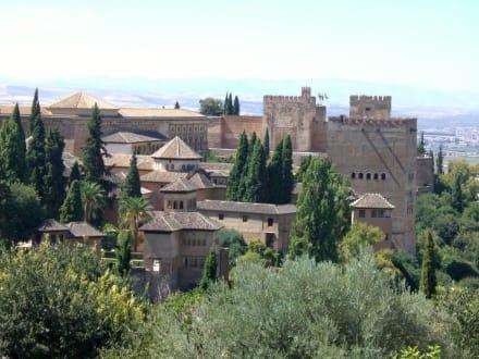 Blick vom Albaicin auf die Alhambra - Alhambra