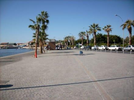 Die umgebaute Paphospromenade - Strandpromenade Paphos