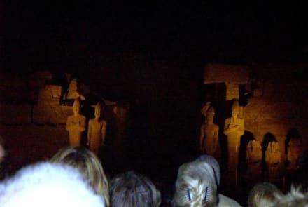 Lichtershow-Karnak Tempel Luxor - Amonstempel Karnak