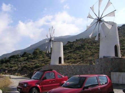Windmühlen - Kretas äußerster Osten