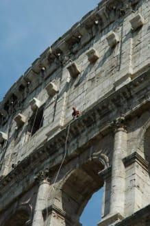 Gerüstbauer am Colosseum - Kolosseum