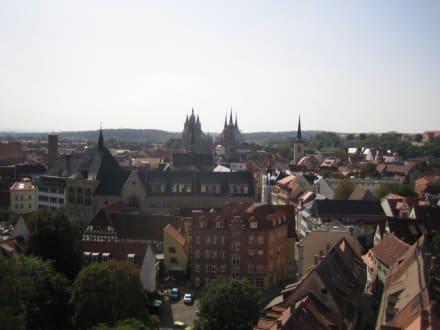 Die Sicht auf den Dom. - Altstadt Erfurt