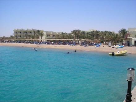 Mittlerer Strandabschnitt - Schnorcheln Hausriff Palm Beach Resort Hurghada