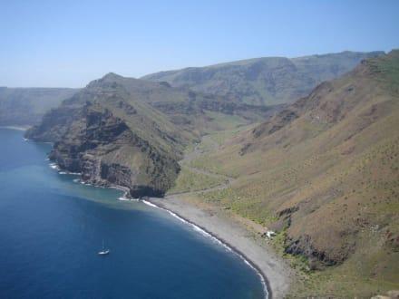 Der erste Blick auf die playa de la Guancha - Playa de la Guancha
