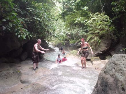 Waterfall Climbing zu den Kawasan Falls - Planet Action
