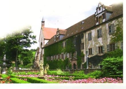 Hauptbau mit Garten - Kloster Bronnbach