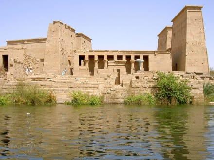 Assuan Philae-Tempel Westfassade - Philae Tempel