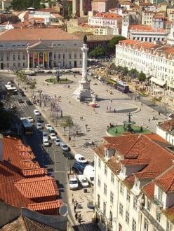 Einer der schönsten Plätze Lissabons - Rossio / Praça de D. Pedro IV