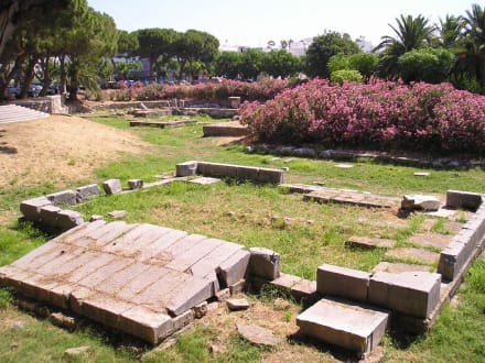 Ausgrabungsstätte in Kos-Stadt - Tempel des Dionysos