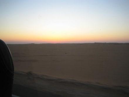 Die Sonne geht langsam auf - Tempel von Abu Simbel