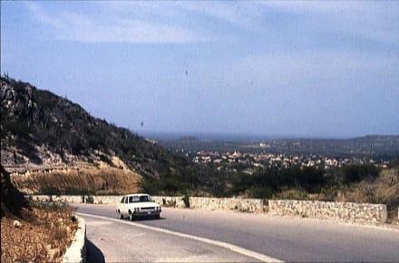 Blick auf das Dorf RINCON - Rundfahrt Insel Bonaire