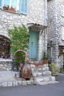 schöner Eingang - Burg Gourdon