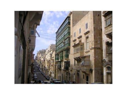 Straße in Valetta - Altstadt Valletta