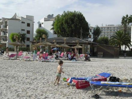 Strand/Hintergrund Strandbar - Strand Alcudia
