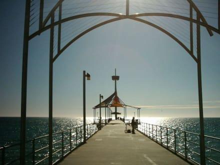 Sonnenuntergang - Brighton Beach und Jetty