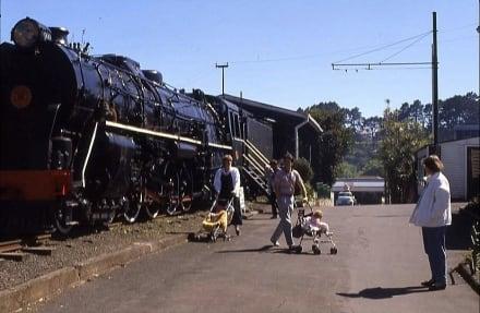Dampflokomotive im Museum - Museum of Transport and Technology