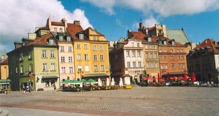 Bürgerhäuser am Zamkowy Platz - Altstadt Warschau/Warszawa