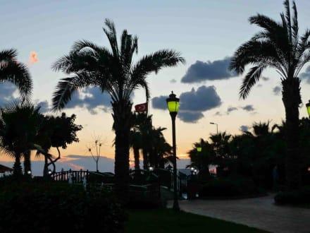 Sonnenuntergang im Park beim Riviera - Abdurrahman Alaettinoğlu Park / Park mit Wasserfontänen