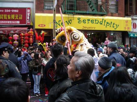 Neujahrsparade in Chinatown - Chinatown New York