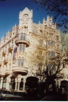 Häuserfassade Palma - Altstadt Palma de Mallorca