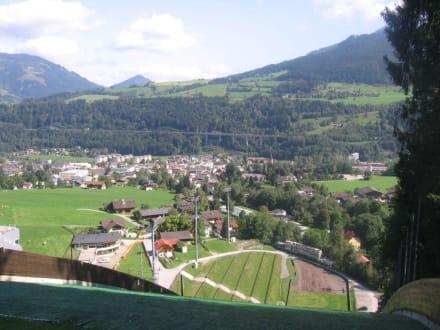 Ausblick von der Sprungschanze - Ski-Sprungschanze