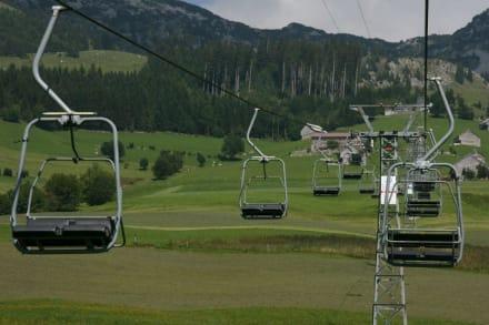 Seilbahn auf den Mattstock - Bergstation Mattstock