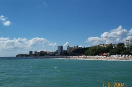 Blick auf den Strand - Strand Goldstrand
