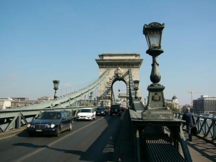 Blick durch die Kettenbrücke - Kettenbrücke