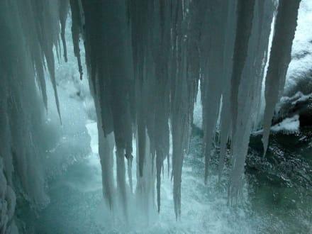Ein Vorhang aus Eiszapfen in der Partnachklamm - Partnachklamm