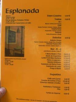 Speisekarte - Tapas Bar Resto