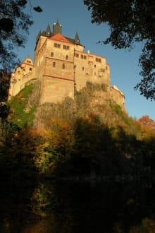 Burg Kriebstein bei Sonnenuntergang - Burg Kriebstein