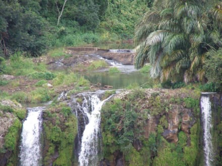 Wasserfall Chamarel (oberer Teil) - Chamarel-Wasserfall