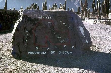 Die Landkarte auf dem Felsen - Inka-Festung (Pucara) bei Tilcara