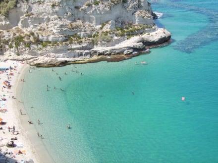 Blick auf den Strand von Tropea - Strand Tropea