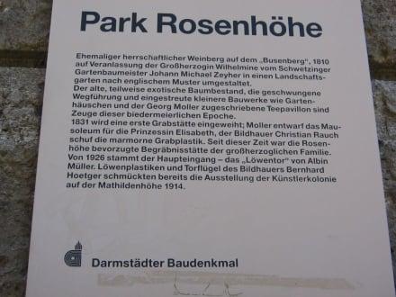 Beschreibung Park Rosenhöhe 1 - Rosenhöhe Park